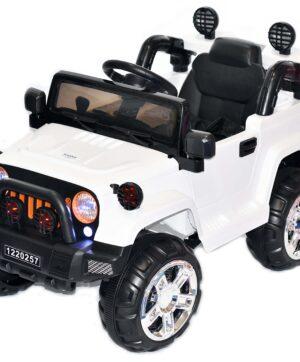Auto terenowe na akumulator biały
